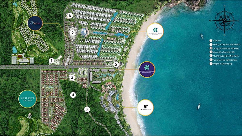 Vị trí đắc địa của Tropical Village tại Bãi Kem, Phú Quốc